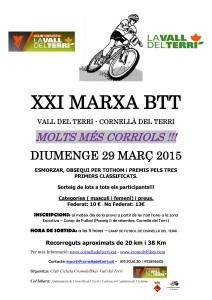 XXI MARXA BTT VALL DEL TERRI - Cornellà del Terri - 29 març 2015